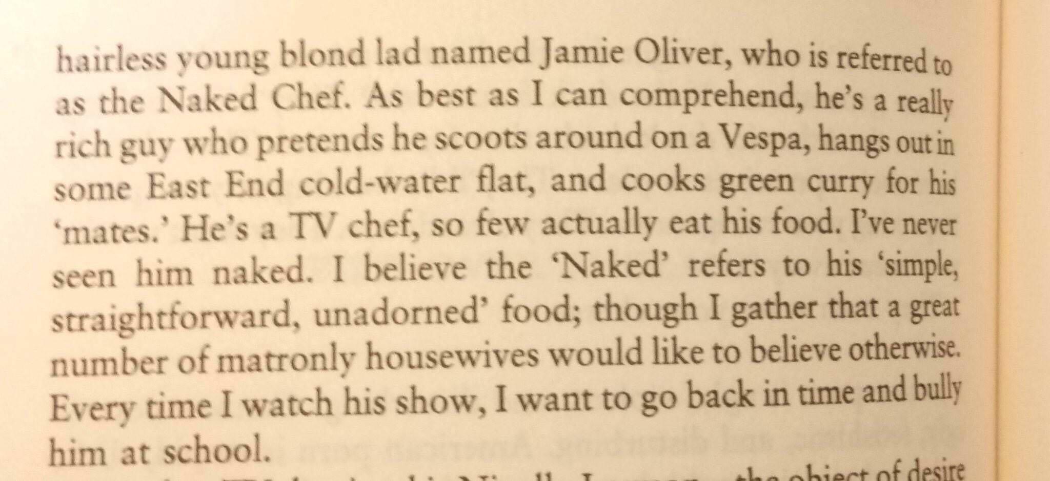 Anthony Bourdain on Jamie Oliver