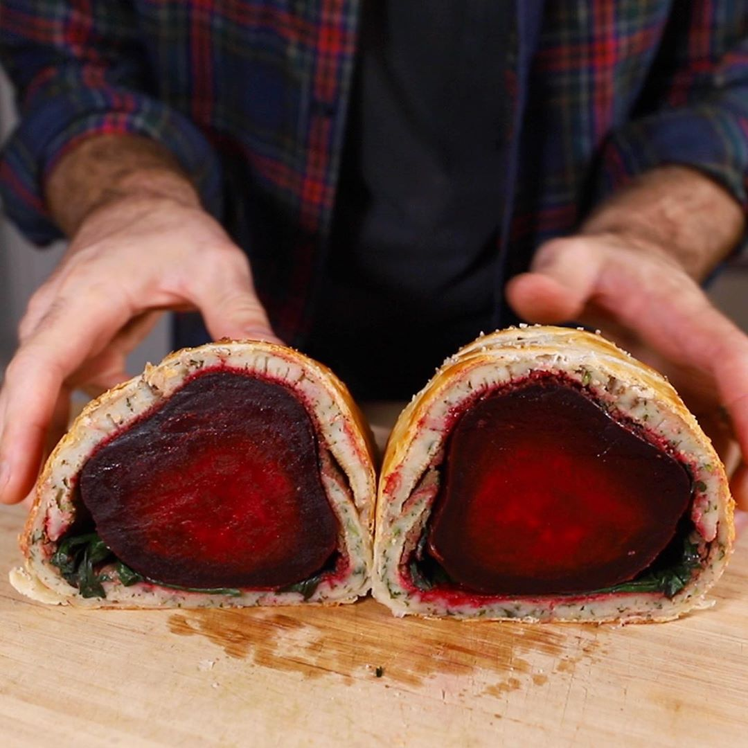 So I made s Beet Wellington. His vegan take on the beef welly. It took all day….was i…