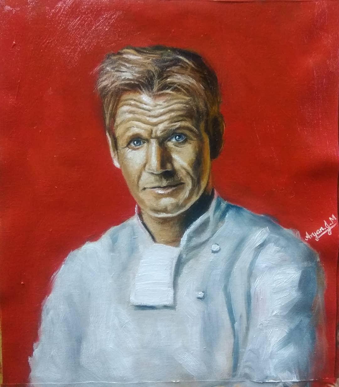 Gordon Ramsey Oil Painting angry gordonramsay food chef memes masterchef foodporn hellski…