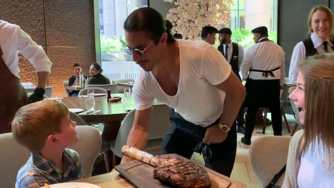 saltbae steak cutting technique EXPERT STEAK