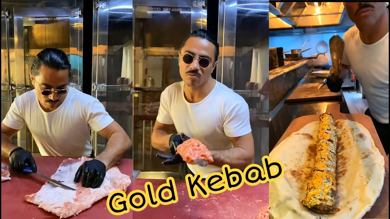 Salt Bae King Of Steak Preparing quotGold Kebabquot – Nust Et. Etilar