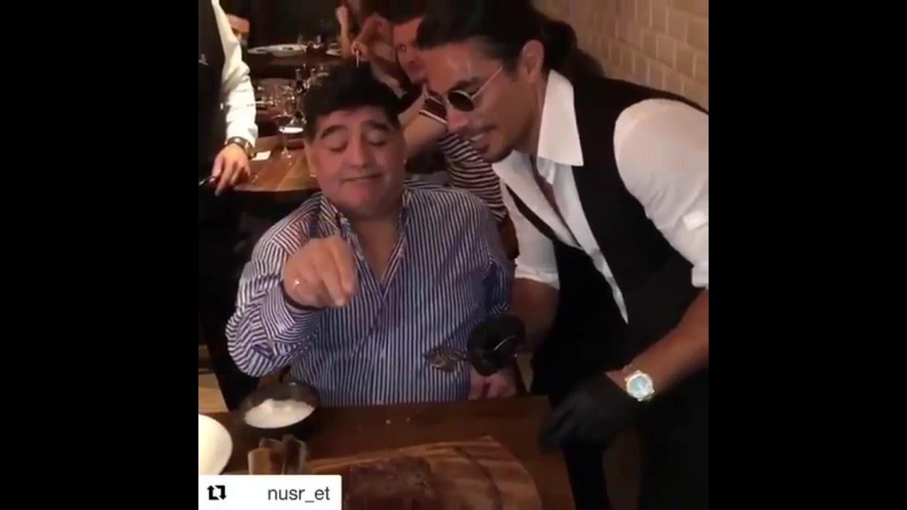 Salt Bae Diego Maradona