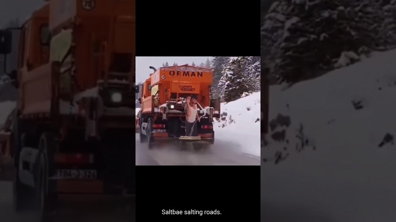Saltbae salting roads.