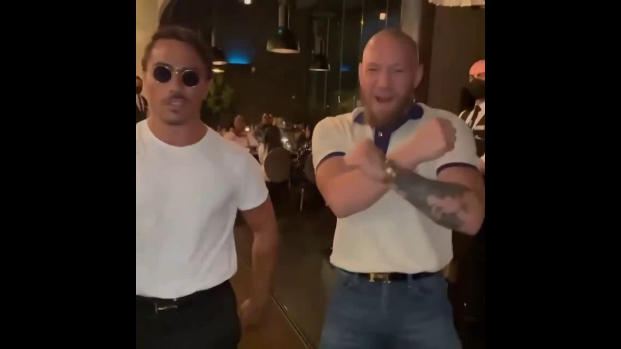 Conor Mcgregor and Salt Bae doing the Walk