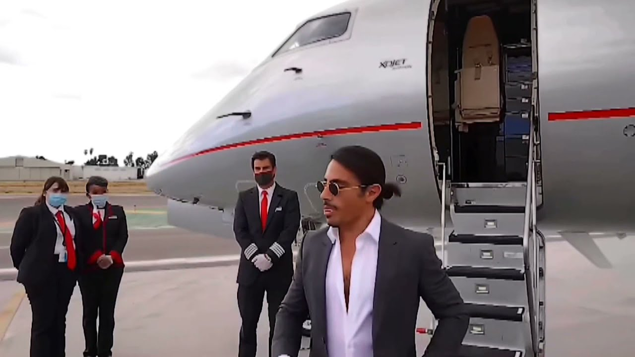 That39s How SaltBae Reached Baverly Hill39s California For New Restaurant Opening